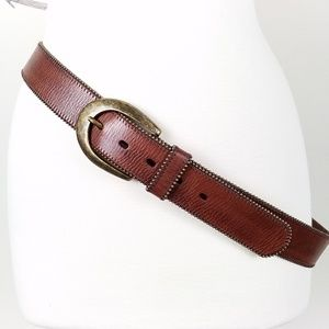 NWOT Coldwater Creek | Leather Brass Buckle Belt